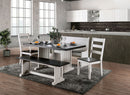 Nekoma Espresso/White Dining Table