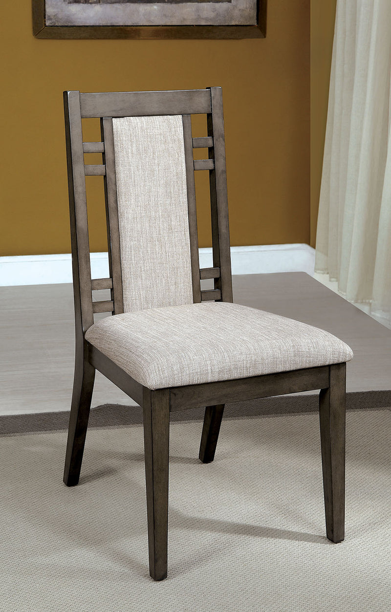 ERIS I Weathered Gray Side Chair (2/CTN)