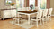 "HARRISBURG Vintage White/Dark Oak Dining Table w/ 18"" Butterfly Leaf"