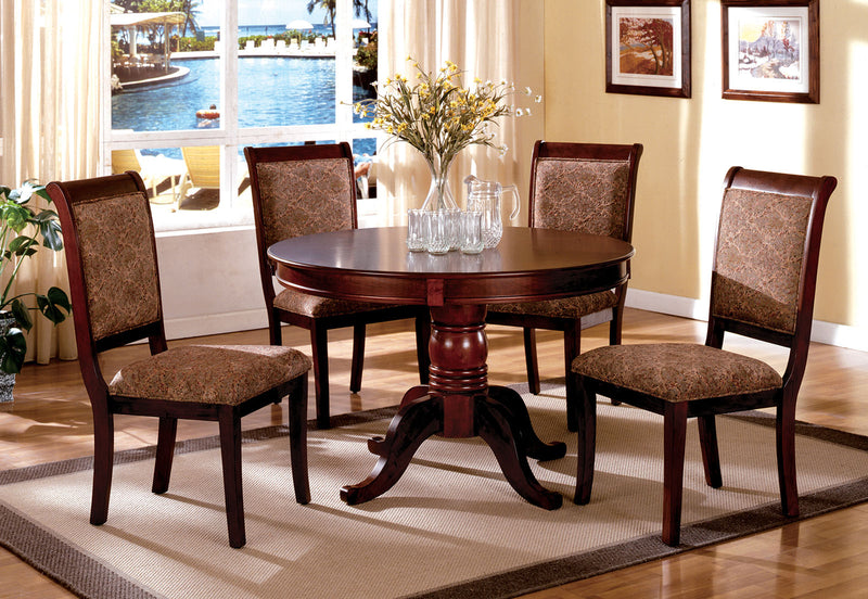 St. Nicholas II Antique Cherry 5 Pc. Round Dining Table Set