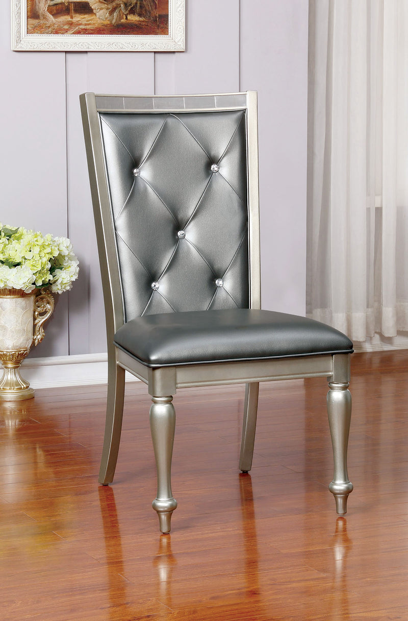 SARINA Silver Side Chair (2/CTN)