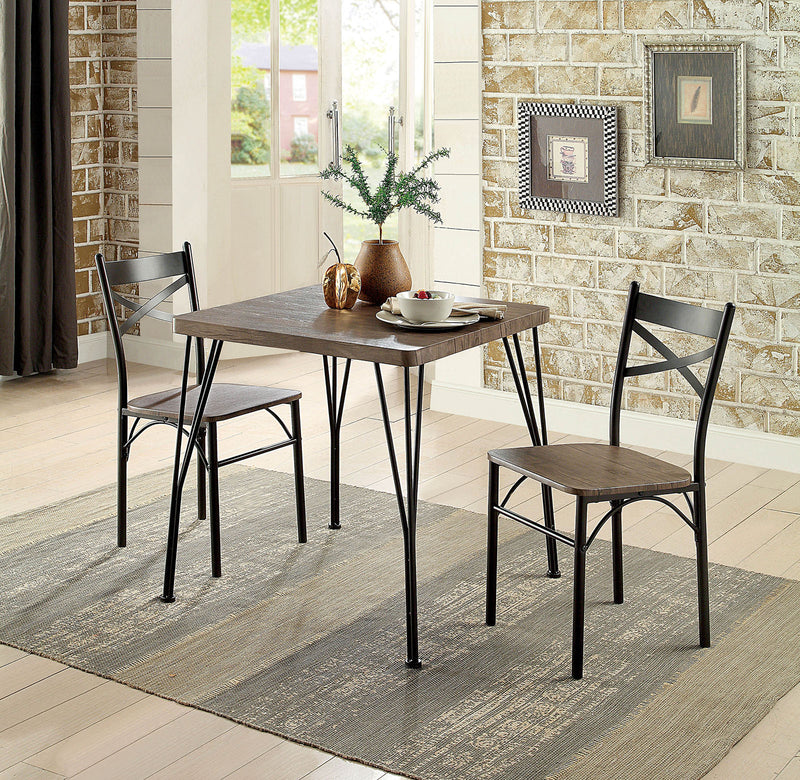 "SLINGSBURY Antique Brown & Dark Bronze 3 Pc. 29"" Dining Table Set, Antique Brown"