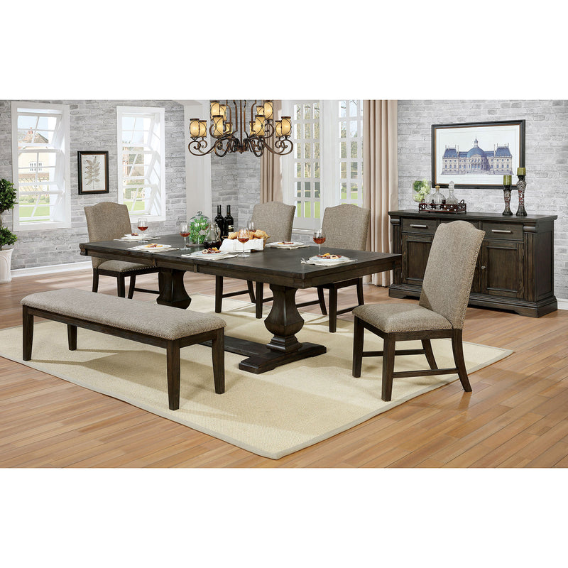 Faulk Espresso 7 Pc. Dining Table Set