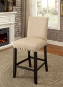 Kaitlin Light Walnut/Beige Counter Ht. Chair (2/CTN)