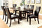 CLAYTON I Dark Cherry/Black 7 Pc. Dining Table Set