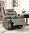 GRANDOLF Gray Glider Recliner, Gray