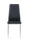 Black Set Of 4 Dining Chairs D140DC (M) image