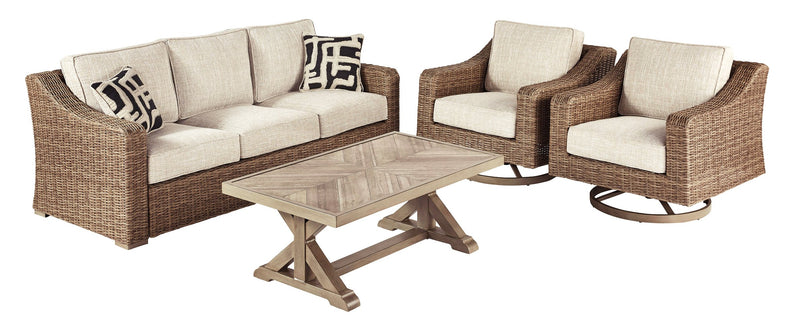 Beachcroft Signature Design 4-Piece Outdoor Conversation Set image