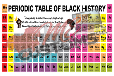 Periodic Elements of Black History (PNG)