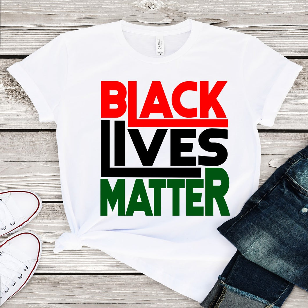 Black Lives Matter....(Iron On Transfer Sheet Only)