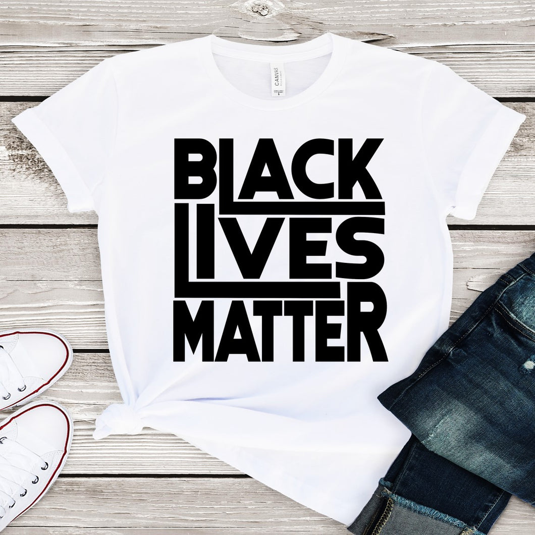 Black Lives Matter....*Black Text*(Iron On Transfer Sheet Only)