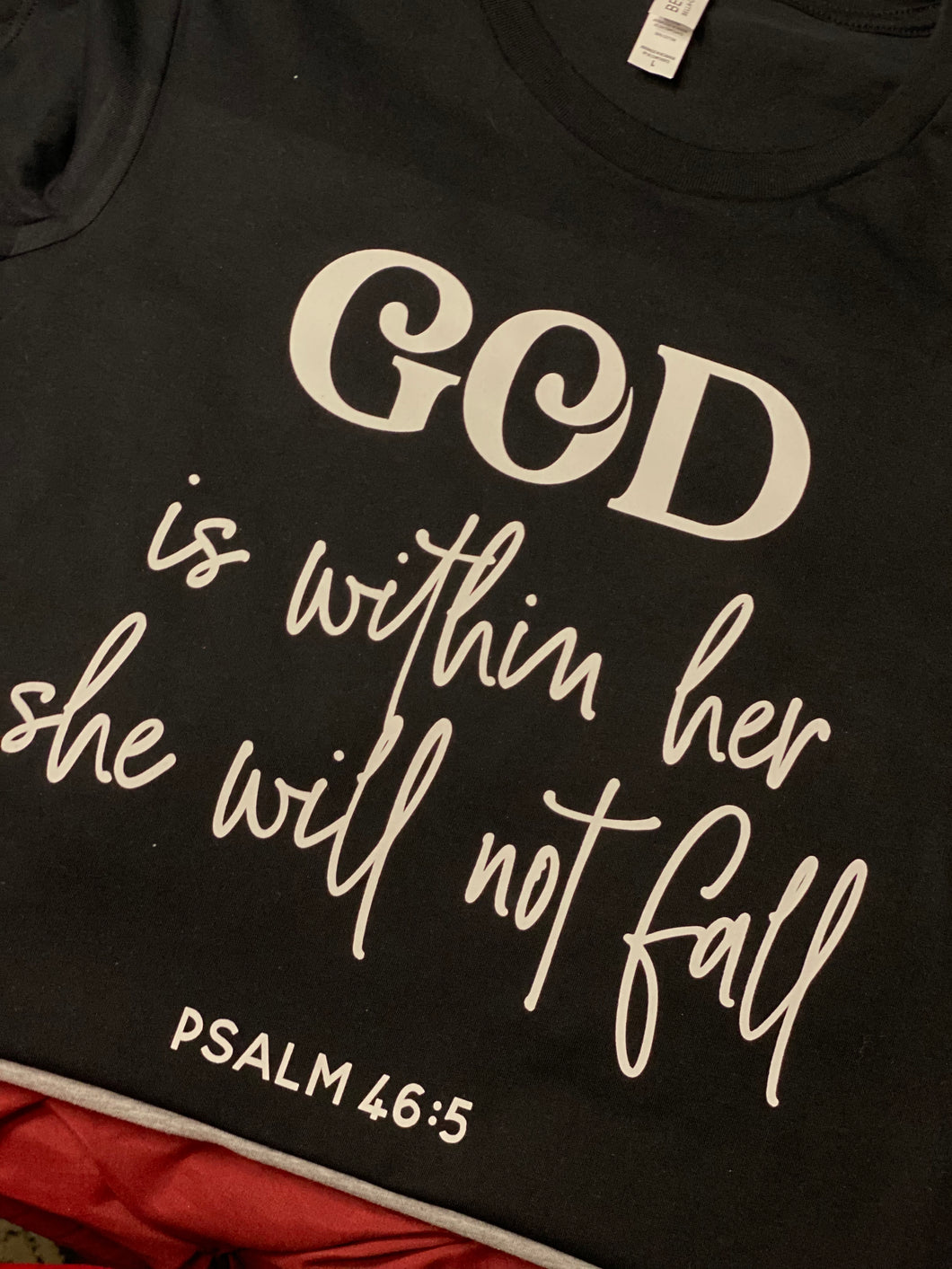 God Within Her.....*WHITE TEXT* (Iron On Transfer Sheet Only)