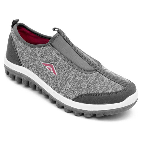 Grey Pink Running Shoes For Women