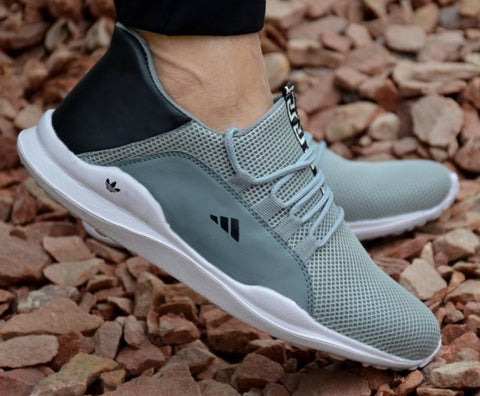 Ultra Lite Grey Sports Sneakers For Men