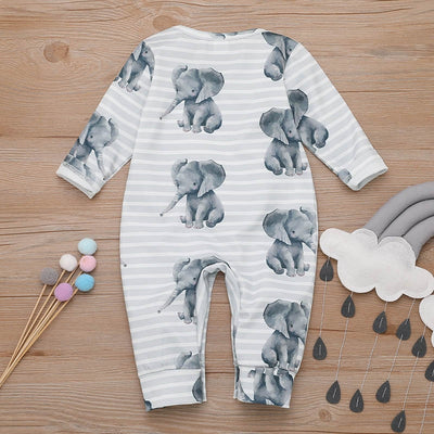 Baby Rompers  long sleeve  Elephant Cotton Jumpsuit - TadaBaby