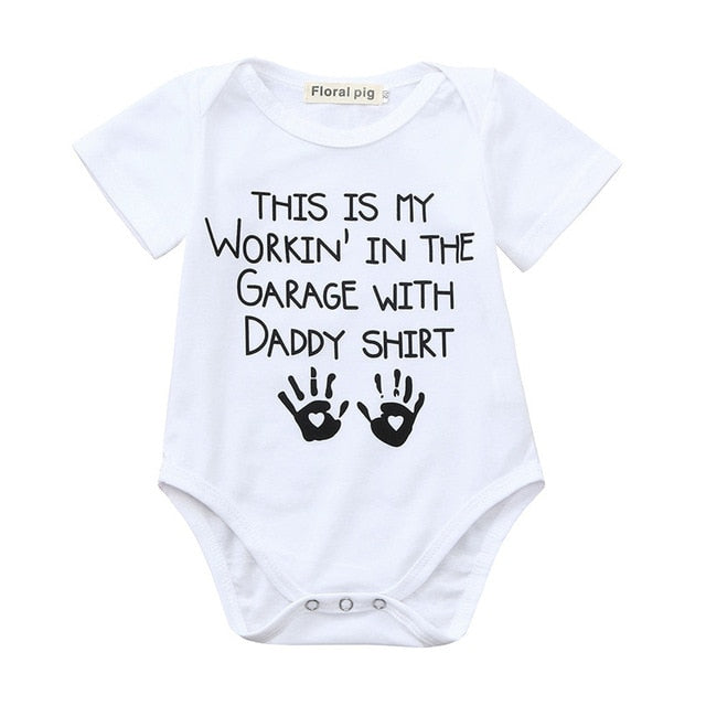 Baby Romper  Short Sleeve Letter Printed Jumpsuit - TadaBaby