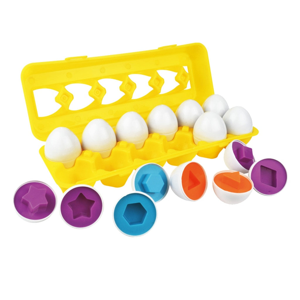 12pces eggs Education Learning toy