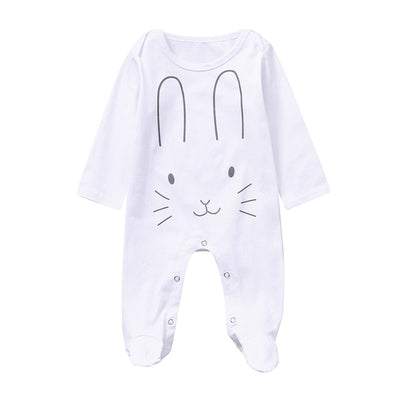 Long Sleeve Footed Sleeper Rabbite - TadaBaby