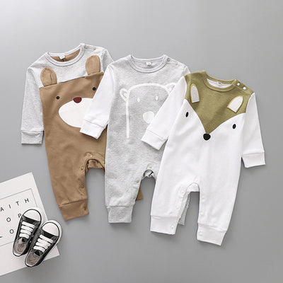 Baby Cartoon Animal Cotton Romper Jumpsuit
