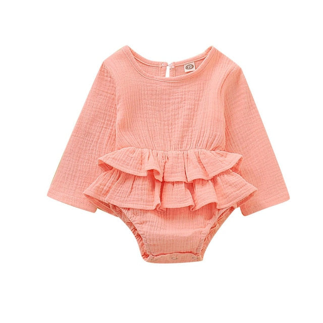 Autumn Bodysuit Casual Ruffle one-piece Outfits - TadaBaby