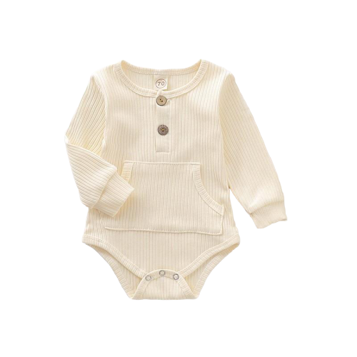 1PC Infant Baby Rompers Long Sleeve Pocket Design - TadaBaby