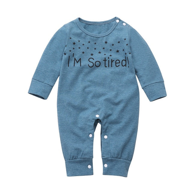 "Lovely Romper ""Im So Tired"" - TadaBaby"