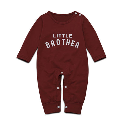Letter Printed Button Newborn Romper