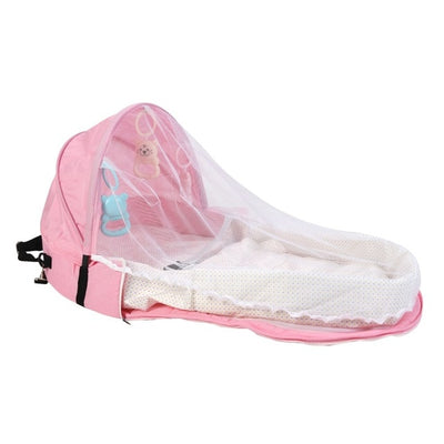Portable Baby bed with musquito Net protector - TadaBaby
