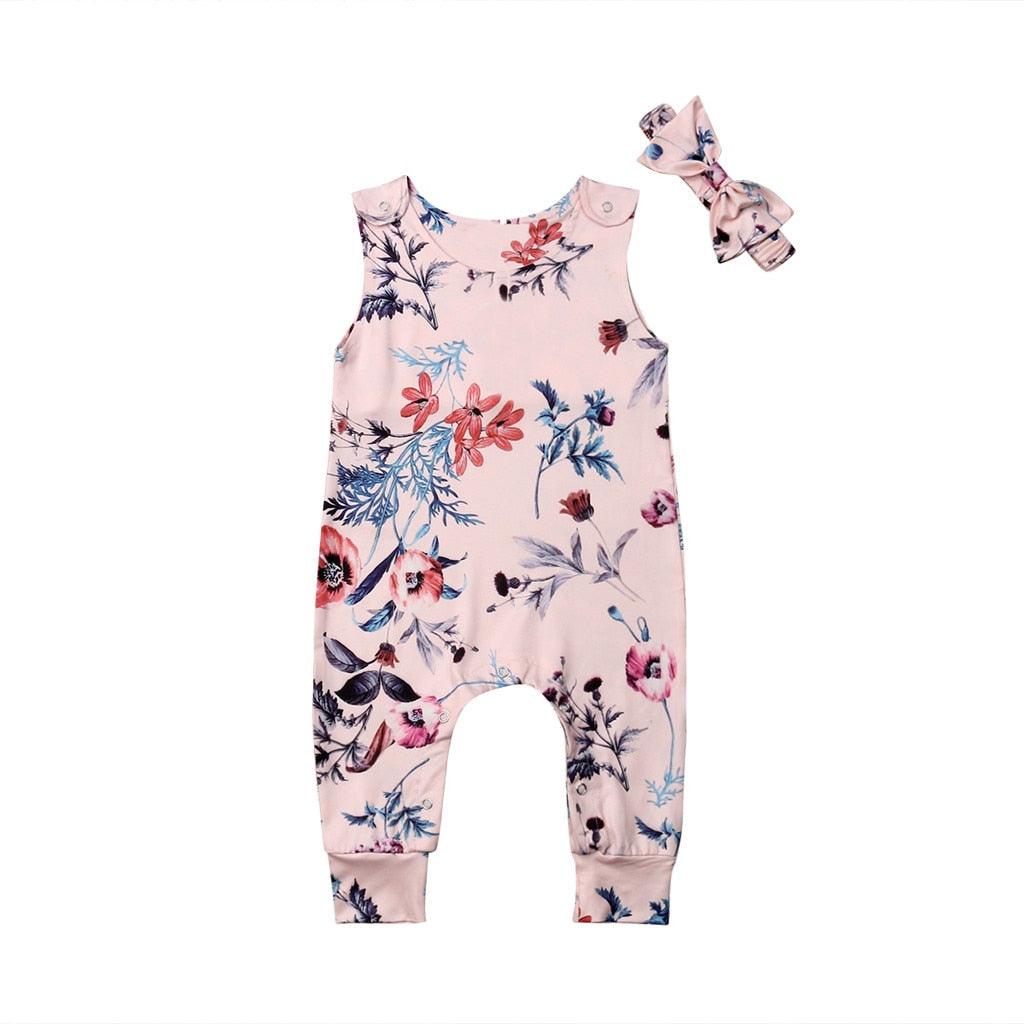 Toddler Baby Girl Floral Romper - TadaBaby