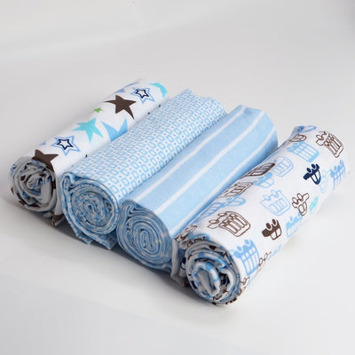 4Pcs 100% Cotton Flannel Baby Swaddles - TadaBaby