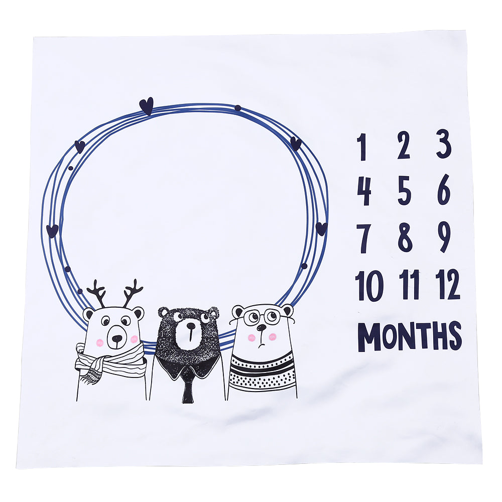 Funny Cute Newborn Baby Number Milestone Blanket - TadaBaby