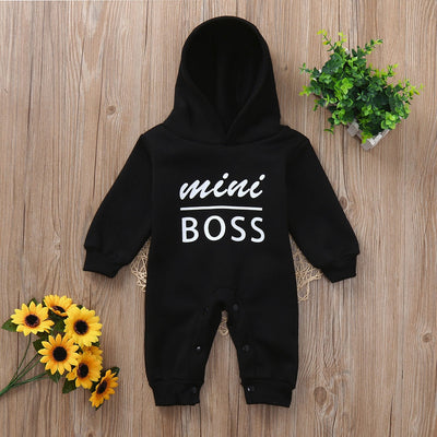 Baby Mini Boss Hoodie JumpSuit Outfits - TadaBaby