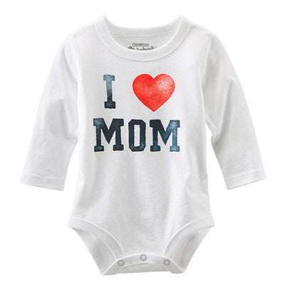 I Love MOM/DAD Print Infant Toddler Newborn Baby Girl Boy Romper Jumpsuit - TadaBaby