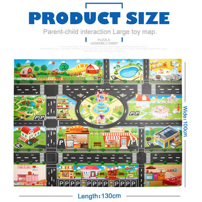 Kids Play Mat City Road Buildings - TadaBaby