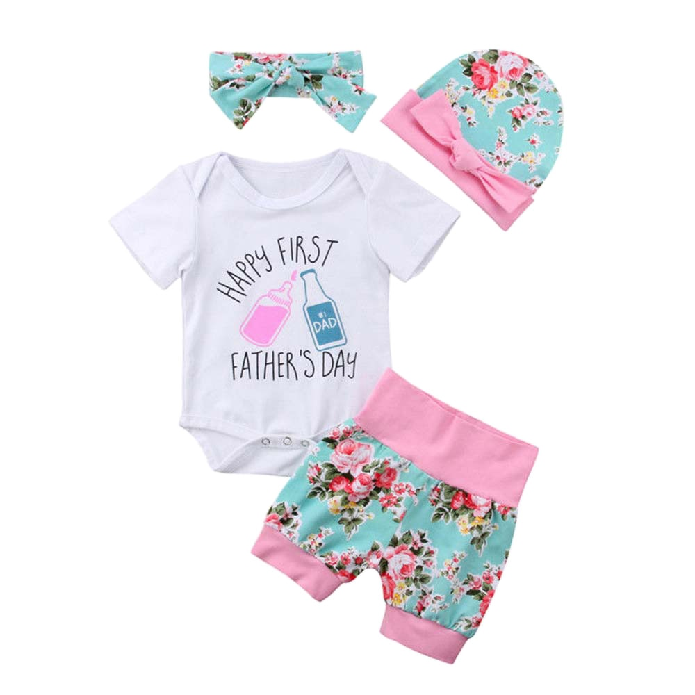 Happy 1st Fathers Day Baby Girl Set - TadaBaby