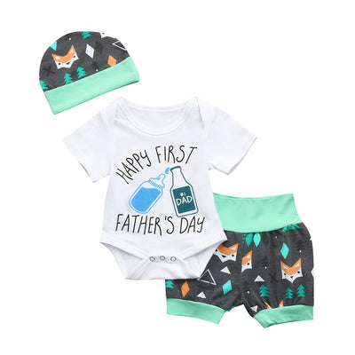 Happy 1st Fathers Day Baby Boy Set - TadaBaby
