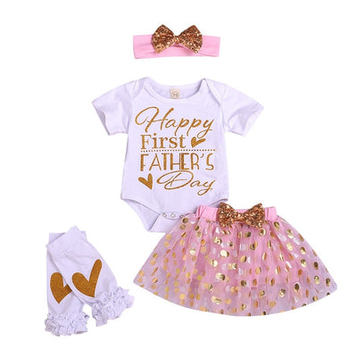 Happy 1st Fathers Day Baby Girls Set - TadaBaby
