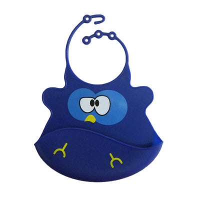 Cute soft silicone waterproof Bibs - TadaBaby
