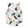 Baby  Leaves Print Romper Jumpsuit - TadaBaby