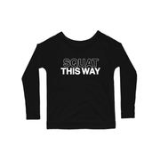 SWEATGOODS Squat This Way Premium Scoop LS Tee - Women's