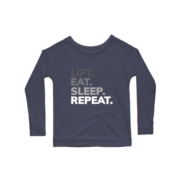 SWEATGOODS Lift Eat Sleep Repeat Scoop LS - Women's