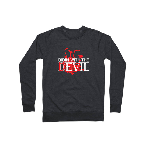 SWEATGOODS Ridin With The Devil French Terry Crew - Unisex