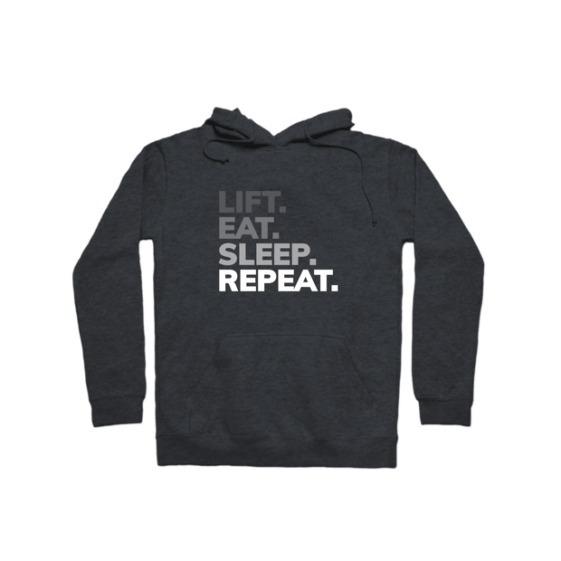 SWEATGOODS Lift Eat Sleep Repeat Heavyweight Hoodie - Unisex