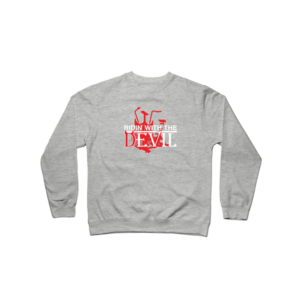 SWEATGOODS Ridin With The Devil Crew Heavyweight Crew - Unisex