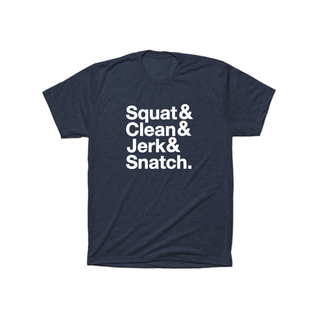 SWEATGOODS Squat&Clean&Jerk&Snatch Triblend Tee - Men's
