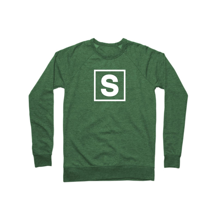 SWEATGOODS Bold Logo French Terry Crew - Unisex