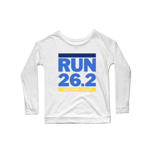 SWEATGOODS Run Boston 26.2 Premium Scoop LS - Women's