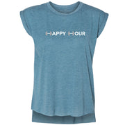 SWEATGOODS Happy Hour Flowy Muscle Tank - Women's
