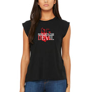 SWEATGOODS Ridin With The Devil Flowy Muscle Tank - Women's