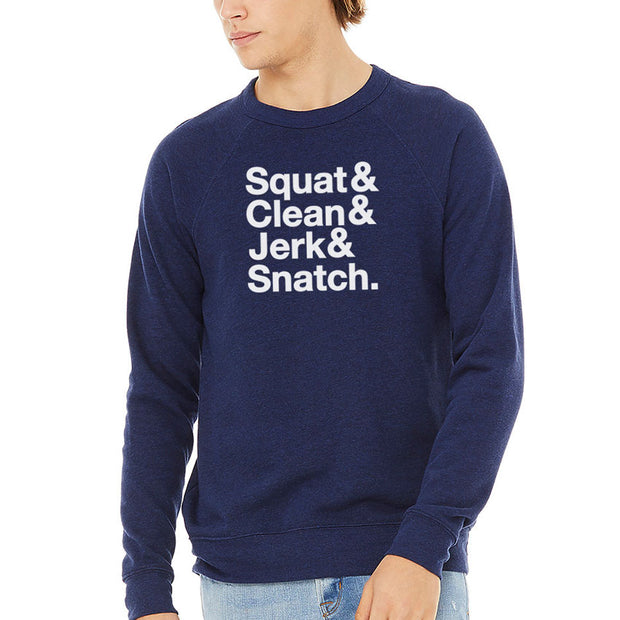 SWEATGOODS Squat&Clean&Jerk&Snatch Heavyweight Crew - Unisex
